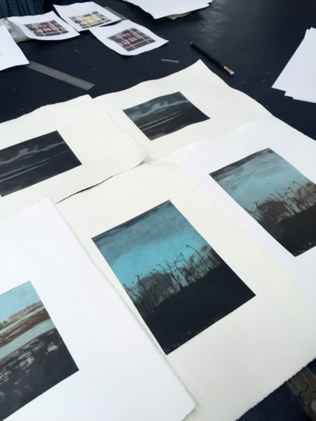 Solarplate prints - Ochre(i)