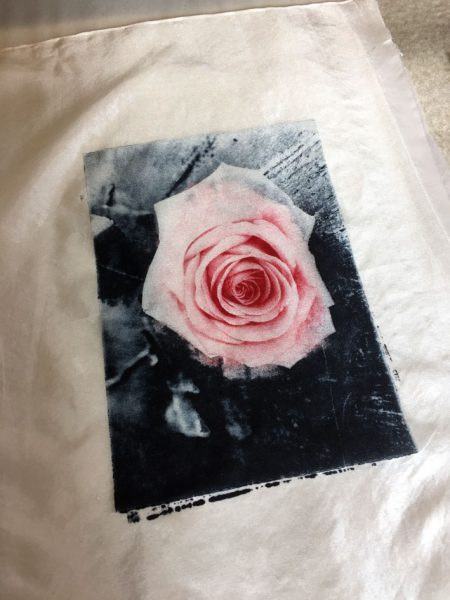 Solarplate on silk