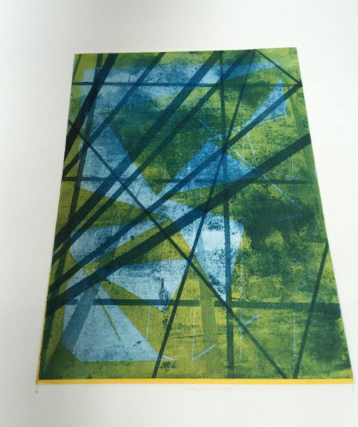 Solarplate print at Ochre