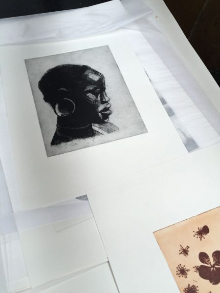 Solarplate prints at Ochre